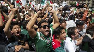 Mexico fans set off earthquake detectors celebrating World Cup win over Germany