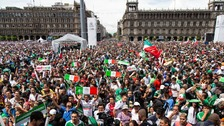 Mexico literally shakes with excitement after World Cup win