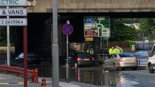 The burst water main caused major traffic issues across Leeds.