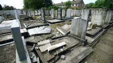 Headstones smashed in Jewish cemetery as hate crimes double
