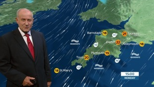 A cloudy start to the week in the South West