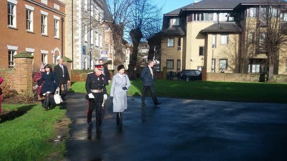 The Princess Royal arrives in Chelmsford