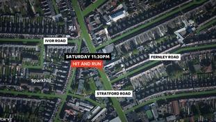 Birmingham hit and run  Noreen Akhtar Stratford Road Fernley Road Ivor Road