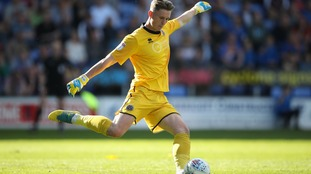 Dean Henderson in action for Shrewsbury Town last season.