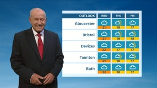 A muggy night for the West Country