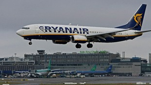 Ryanair plane lands at Dublin Airport