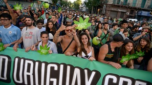 Cannabis was legalised in Uruguay in 2013.