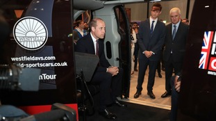 Prince William in driverless pod