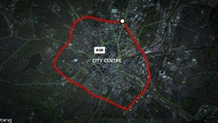 The area within the inner ring road will be affected