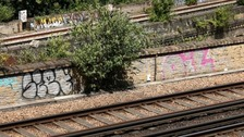 Street art scene pays tribute to men killed by train