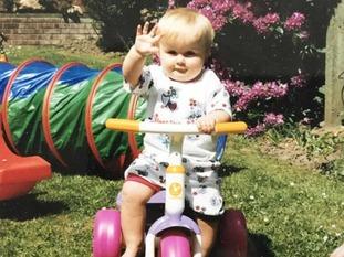 Molly McLaren as a child.