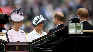 Harry and Meghan receive rapturous welcome at Royal Ascot