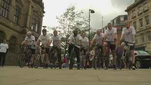 The 20 strong team will ride from Sheffield to The Somme