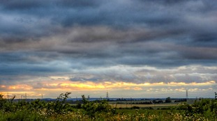 Clouds before sunset at Baldock in Hertfordshire