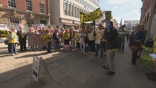 Residents against fracking stage protest at public inquiry