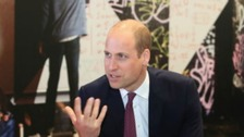 Prince William opens centre for suicidal men