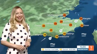 Wednesday's weather for the east
