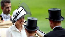 Duchess of Sussex makes her Royal Ascot debut