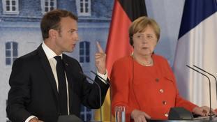 Merkel and Macron propose eurozone budget