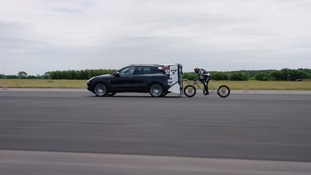Essex architect smashes European cycle speed record