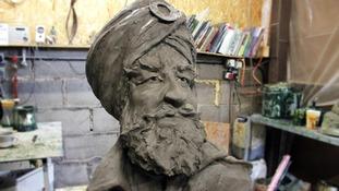 0-foot high bronze statue of a First World War Sikh soldier