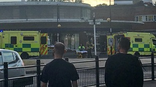 A 'minor explosion' has injured people at Southgate tube station.