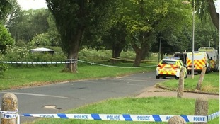 Body found on grassed area