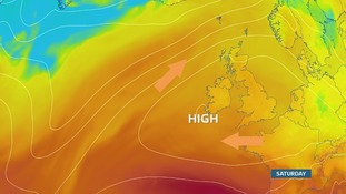 High pressure in charge bringing warm and settled weather