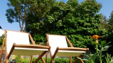 Deck chairs in the sunshine