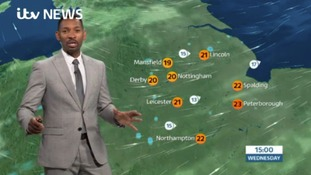 East Midlands Weather and Pollen: Patchy rain
