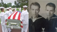 Julius and Louie Pieper died after their ship hit an underwater mine just days after D-Day in 1944.