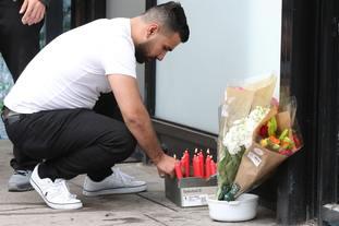 Flowers laid at scene