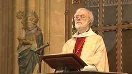 The Archbishop of Canterbury, Dr Rowan Williams speaking earlier today