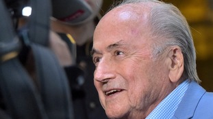 Former Fifa president Sepp Blatter makes rare public appearance in Moscow for World Cup