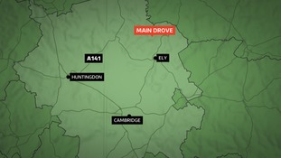 Man dies after being being hit by van while repairing tractor by the roadside in Cambridgeshire