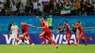IR Iran celebrate