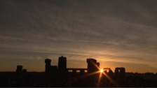 The sun rises over Stonehenge on the longest day of the year