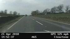 Shocking footage of biker chased by police at 125mph