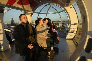 The London Eye also opened extra early, allowing ticket holders views of the sun rising over the capital.