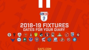 Full fixture list for Sunderland's first season in League One since the 80s
