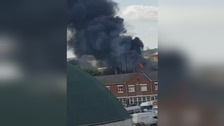 Crews tackle fire at scrap yard in Doncaster