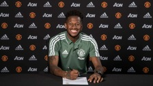 Fred signs for Manchester United.