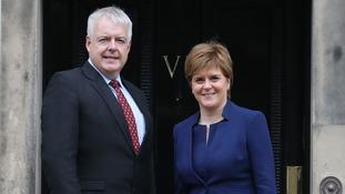 Carwyn Jones and Nicola Sturgeon