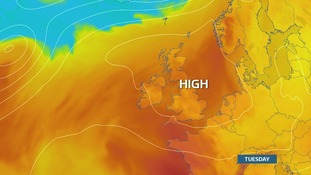 High pressure parked comfortably over the UK by early next week, circulating warm and dry air from the near continent