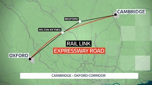 New road and rail links between Cambridge and Oxford could create a million new jobs.