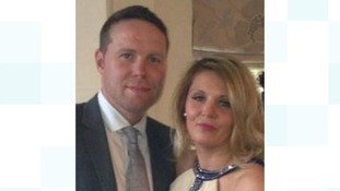 Derek is pictured here with his partner Michelle Beddall