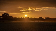 Sunrise during the Summer Solstice Ely, Cambridgeshire