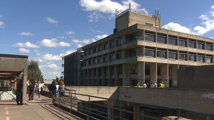 Six fire crews were sent to the University of East Anglia.