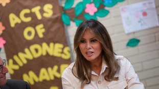Melania Trump visits detention centre as immigration vote looms