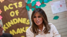 Melania visits detention centre ahead of vote on immigration